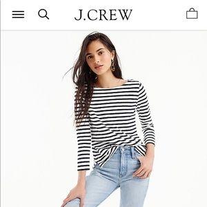 J. CREW ARTIST T Long Sleeve Boat Neck T-Shirt S